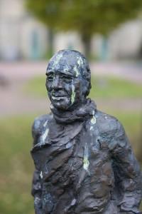 Skulptur föreställande Jens Mattiasson