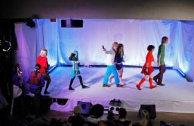 Ett urval av de tävlande i cosplay-tävlingen.