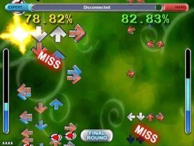 Bilden avspeglar inte DDR utan ett annat spel som heter ITG.