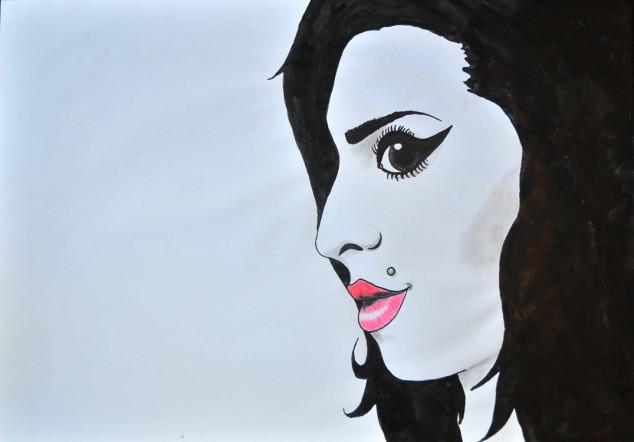 Amy Winehouse. Illustration Ida Svantesson