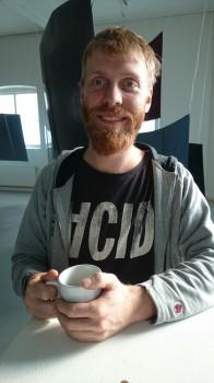 Musikern och ljudkonstnären David Sabel.