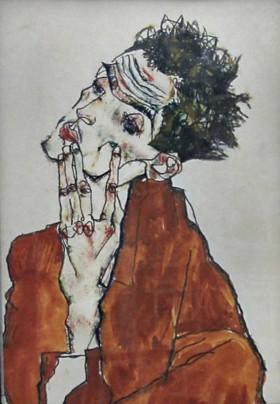 Egon Schiele är en av många konstnärer som fokuserat på att uttrycka upplevelser av utsatthet.