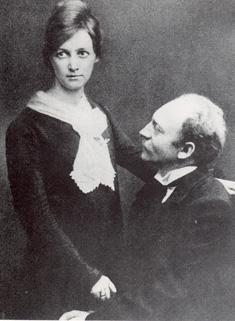 Ada Och Emils bröllopsfoto i Köpenhamn, 1902