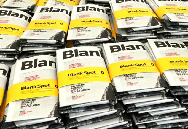 Blank Spot Project papperstidningar