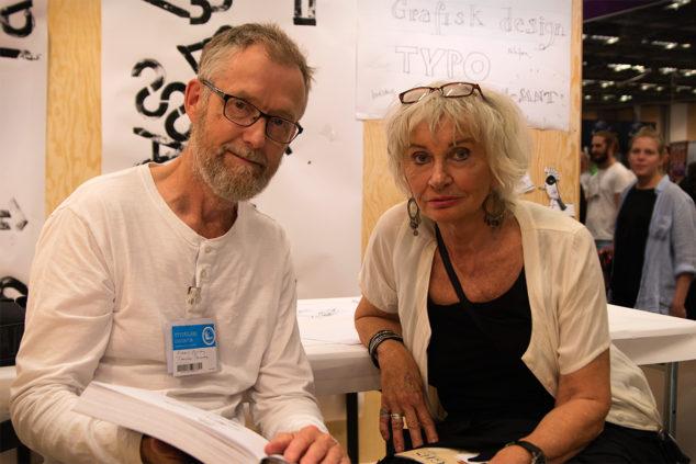 Serietecknarna och illustratörerna Robert Nyberg och Charlotta Björnulfson