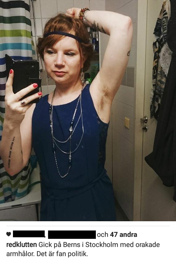 inget hår under armarna